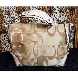 EUC Coach Signature Beige Handbag